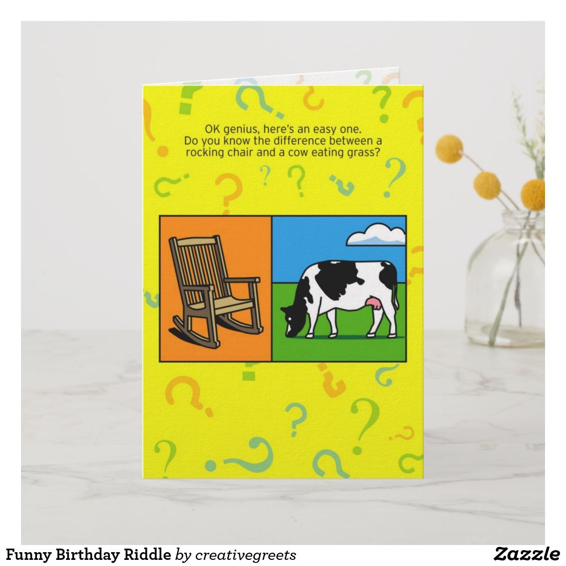 Funny Birthday Riddle Card
