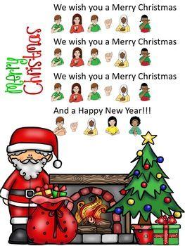asl merry christmas song k 12 asl american sign language resources pinterest sign language american sign language and language - Merry Christmas In Sign Language