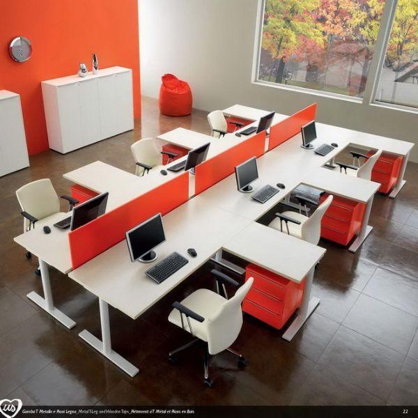 Estaci n de trabajo m ltiples colecci n us by castellani for Escritorios modulares para oficina