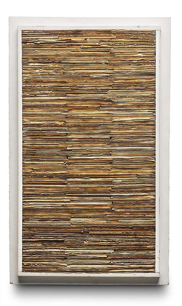 Jan Schoonhoven   'Relief', cardboard and painted artist's frame