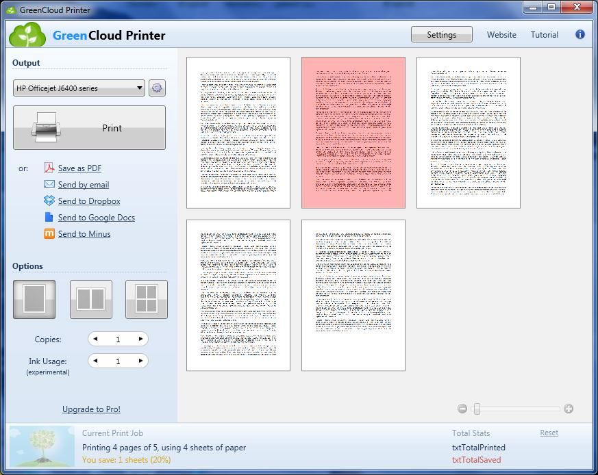 GreenCloud Printer is a virtual driver for your printer