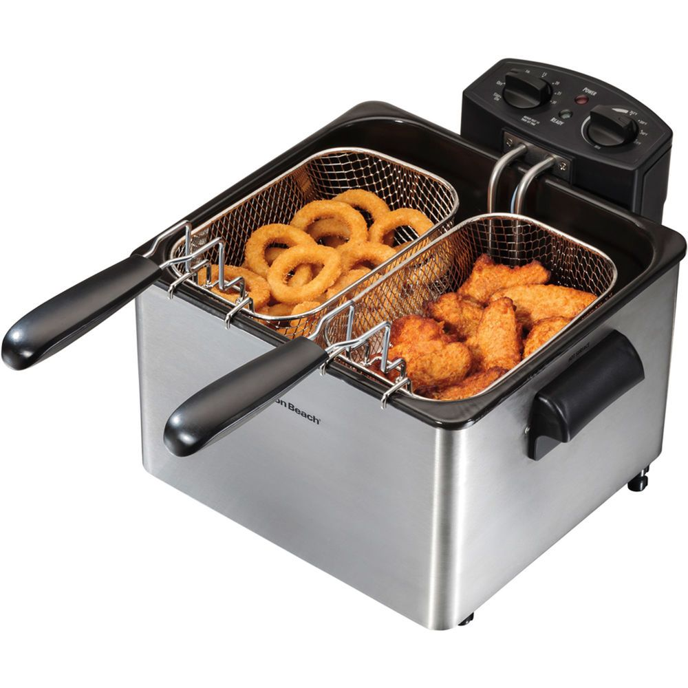 Apw Wyott Ef30int Countertop Electric Fryer 2 15lb Vat 208v3ph Each Continue To The Product At The Image Link This Electric Fryer Deep Fryers Countertops