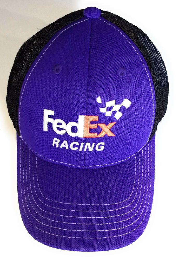 3f621452b21 FedEx Racing  11 Baseball Style Hat Cap Purple Black Mesh  JoeGibbsRacing   BaseballCap