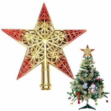 ANTSShop Shiny Decorative Christmas Tree Star Pendant Top Ornament RedGold ** Check out this great product.
