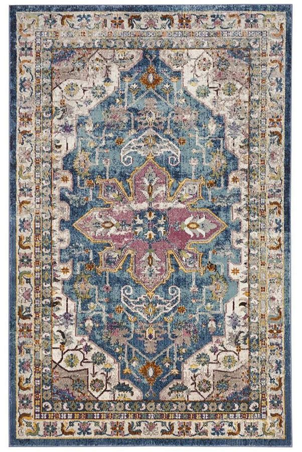Safavieh Aria Blue And Creme 10 X 14 Area Rug Reviews Rugs Macy S In 2020 Rugs In Living Room Transitional Decor Area Rugs