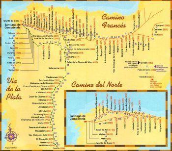 el camino térkép El Camino térkép | Helyek, ahova elmennék | Pinterest | El camino  el camino térkép