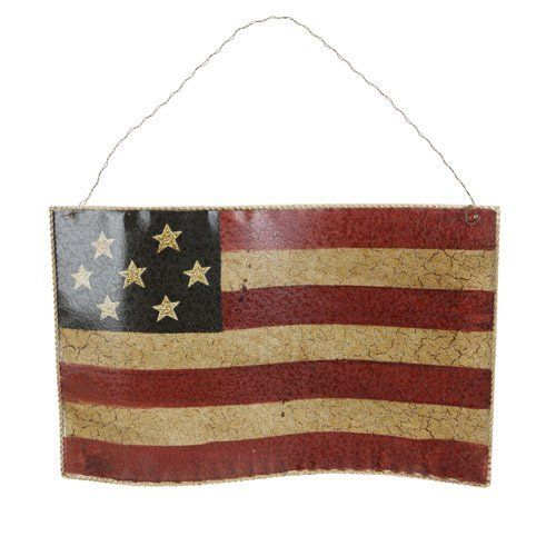 American Flag Hanging Metal Decor By Dockstock 17 99