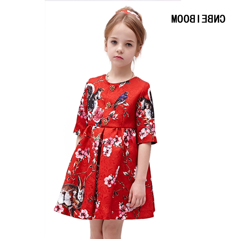 29.98$  Buy now - https://alitems.com/g/1e8d114494b01f4c715516525dc3e8/?i=5&ulp=https%3A%2F%2Fwww.aliexpress.com%2Fitem%2FHigh-Quality-Flower-Girl-Dresses-Red-Boutique-Printed-animal-2017-Spring-Autumn-Girls-Princess-Wedding-Party%2F32781500995.html - High Quality Flower Girl Dresses Red Boutique Printed animal 2017 Spring/Autumn Girls Princess Wedding Party Dress Kids Clothing 29.98$