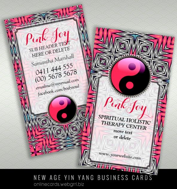 Aztec pink joy yinyang new age yoga business card business cards aztec pink joy yinyang new age yoga business card colourmoves