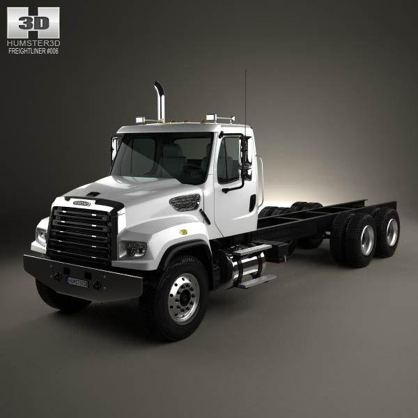 3d Model Of Freightliner 114sd Chassis Truck 2011 Freightliner Trucks Model