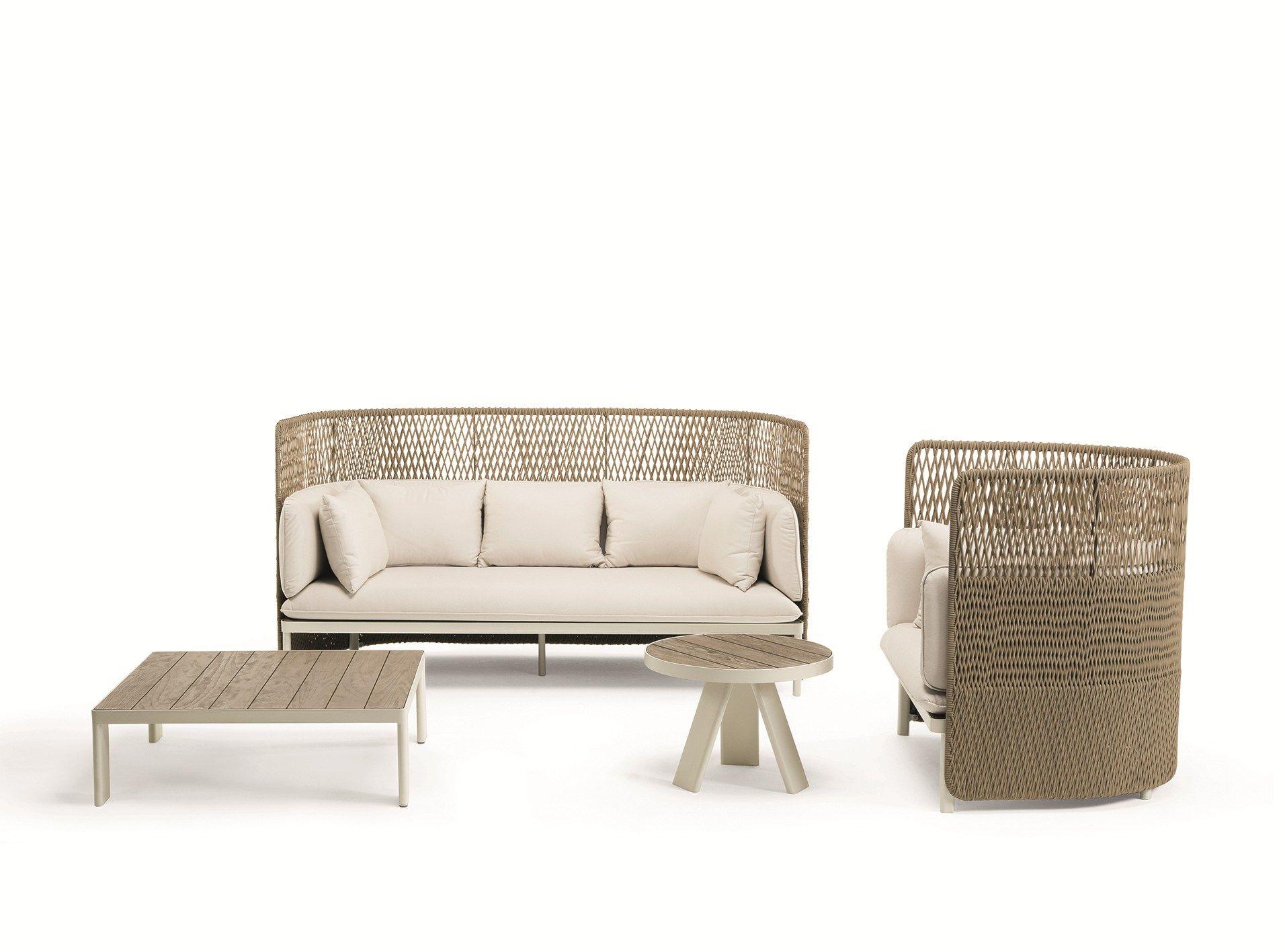Esedra High Back Garden Sofa By Ethimo Design Luca Nichetto