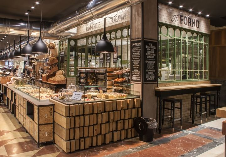 Bistrot milano centrale milan italy groceries cafe bakery for Store design milano