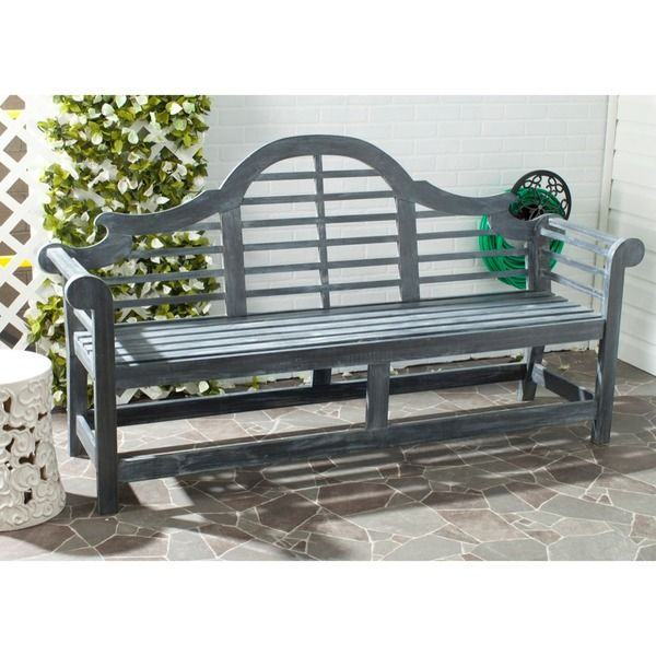 safavieh furniture home bradbury side by benches furnishings outdoor bench garden seat