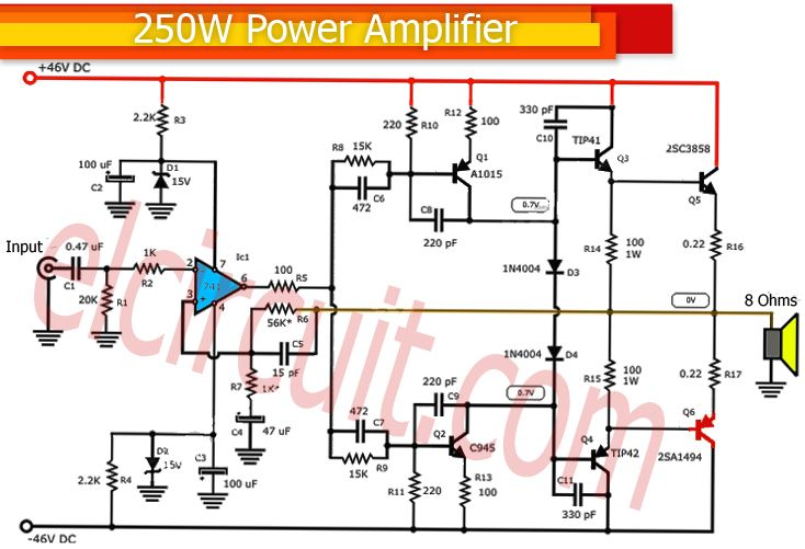 usb powered audio power amplifier wiring diagram