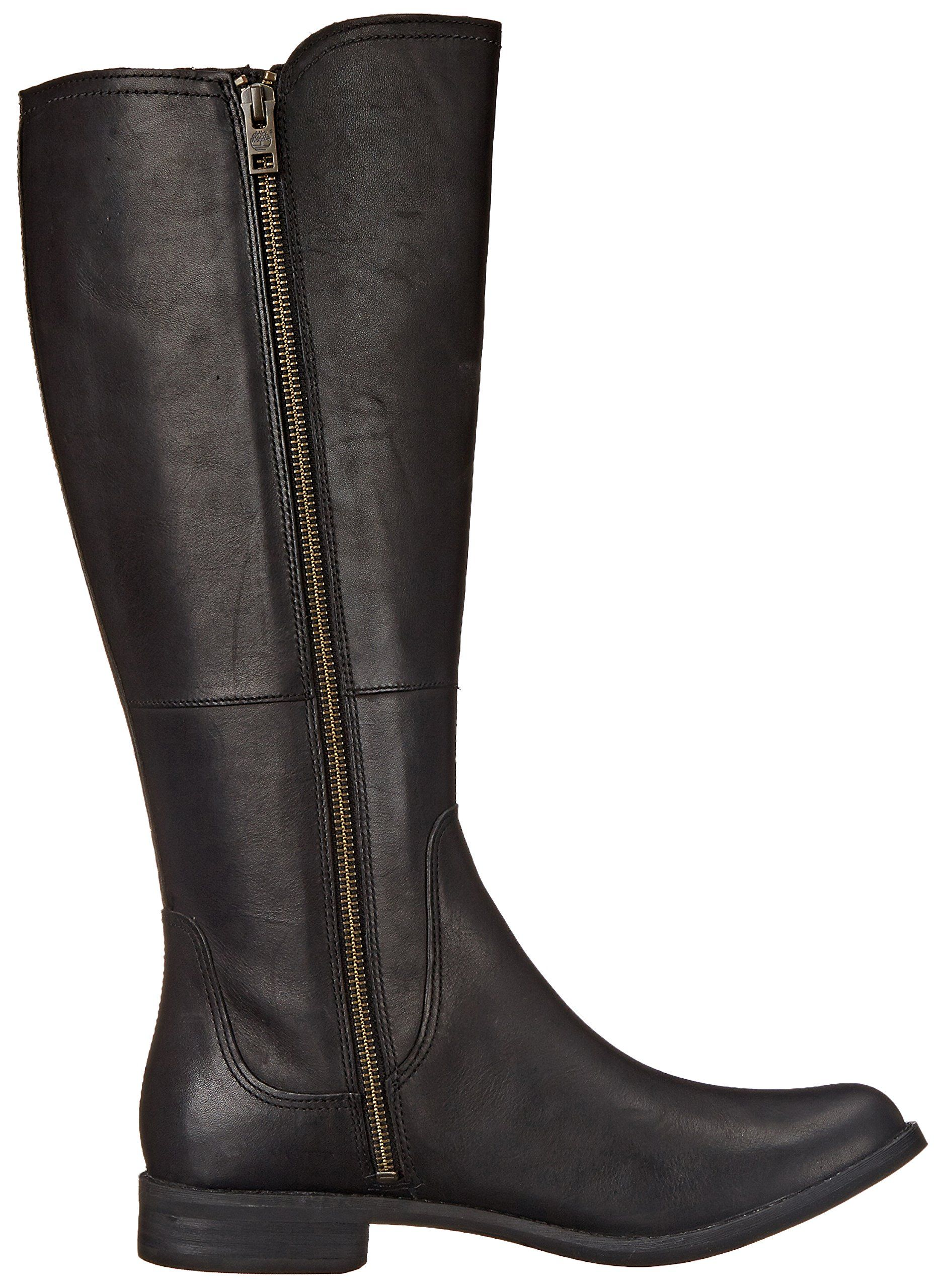 Timberland Womens Savin Hill All Fit Tall Boot Black Smooth 7.5 M US