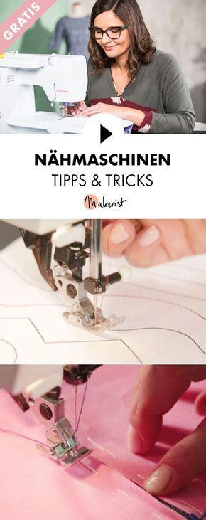 Gratis Video-Kurs: Tipps und Tricks zur Nähmaschine - Schritt für Schritt erklärt im Video-Kurs via Makerist.de #tutorielsdecouture