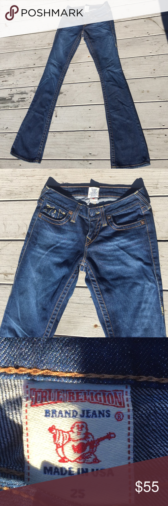 5d2c5398354 True Religion Becky Bootcut Jeans 25 X 34 True Religion Bootcut Becky Jeans,  Size 25, inseam 34 inches, five pocket jeans, rise is 7 1/2 inches, ...
