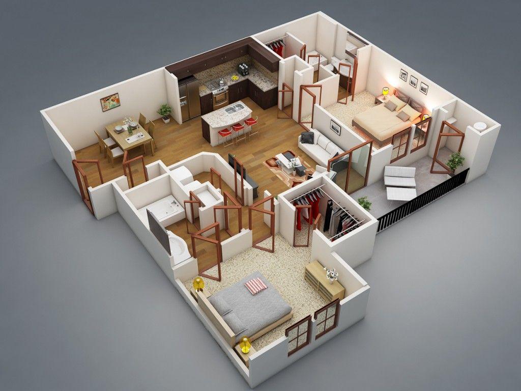 bedroom apartment house plans also  home concept pinterest rh