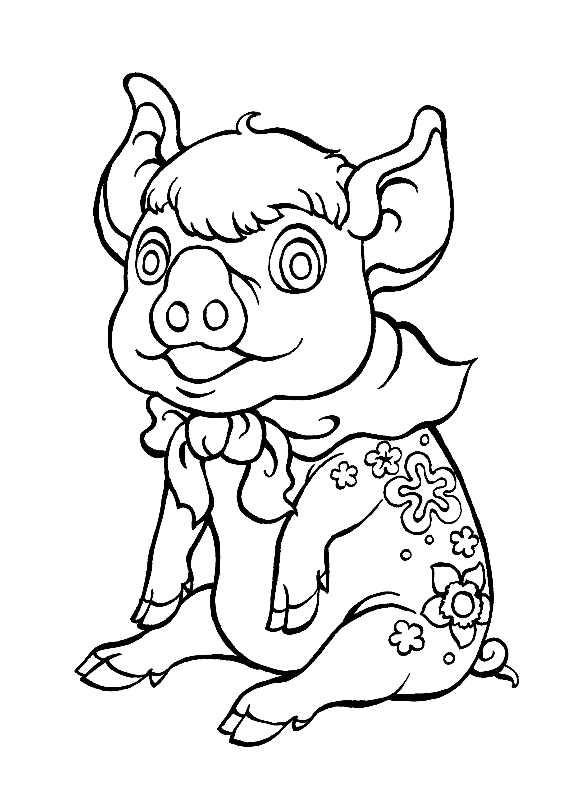 Year of the Pig. FREE colouring sheet for children from