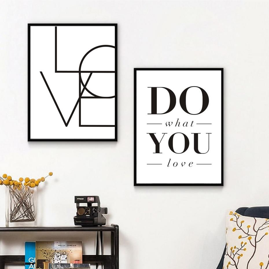 Love Sign Do What You Love Minimalist Words Of Love Wall Art Black