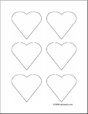 Flashcards Heart Pattern Blank Create Your Own Flashcards With