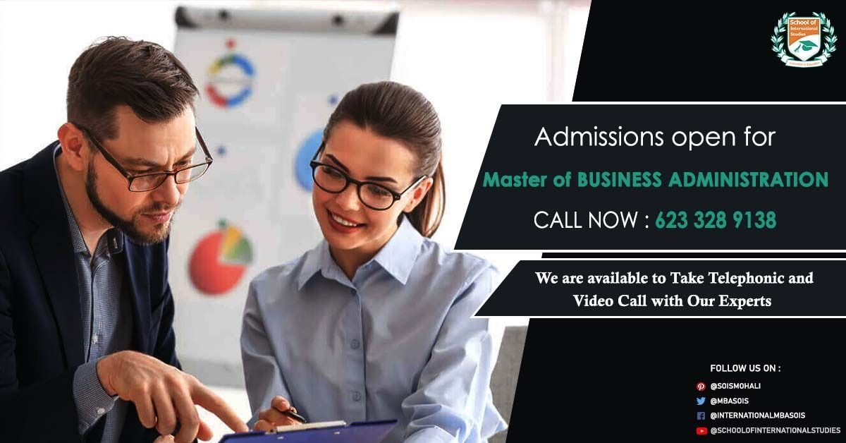 Admissions Open For Mba At Sois Mohali In 2020 Masters In Business Administration College Study Admissions