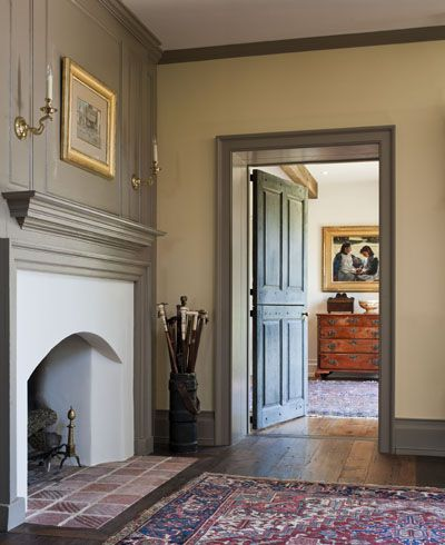 Creme Walls Gray Trim