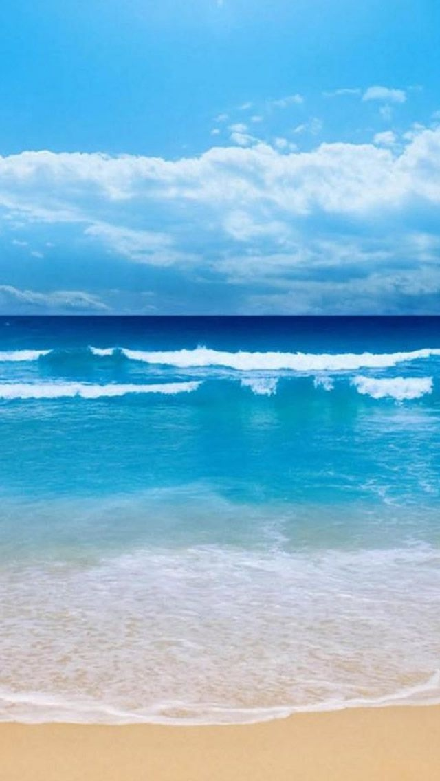 Sunny Cool Ocean Beach Wave Skyscape iPhone 5s