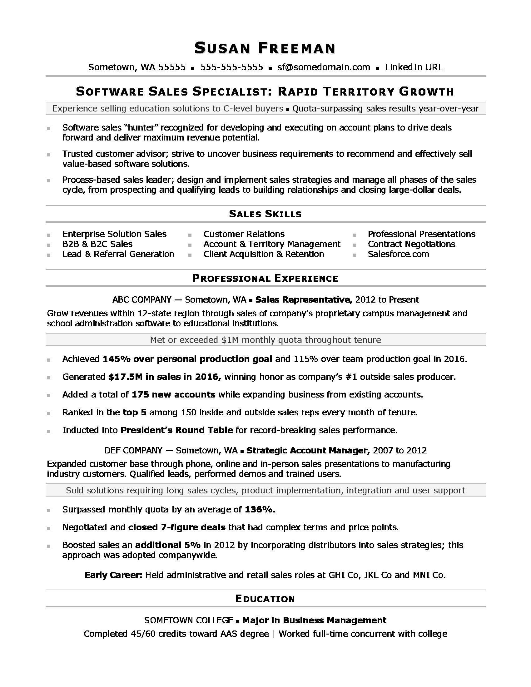 Sales associate resume sample Sales resume examples