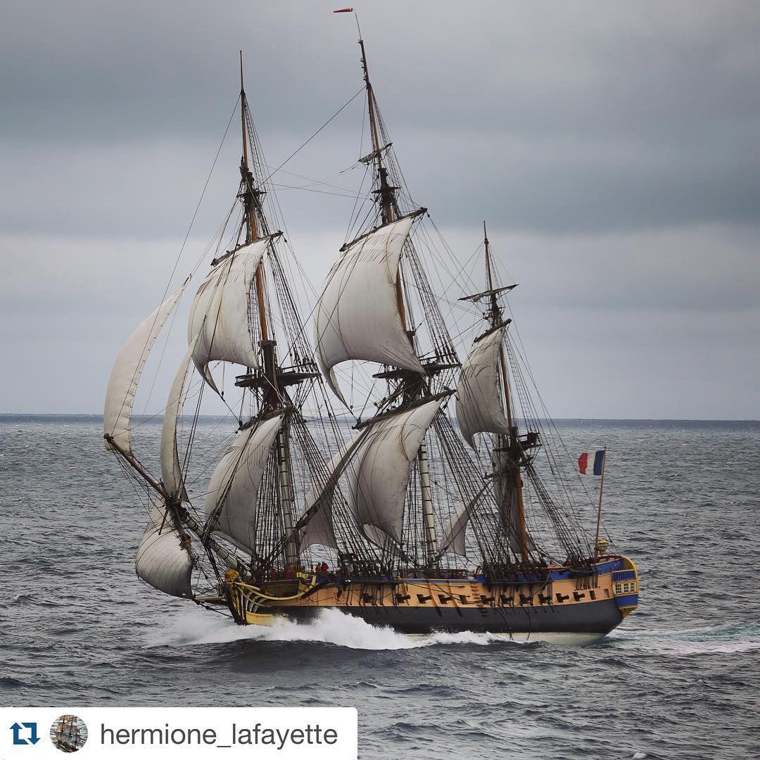 """44 mentions J'aime, 1 commentaires - Share My Sea (@sharemysea) sur Instagram: """"#Repost @hermione_lafayette ・・・ Souvenir de l'#atlantique nord, voyage 2015 de L'#Hermione. Photo…"""""""