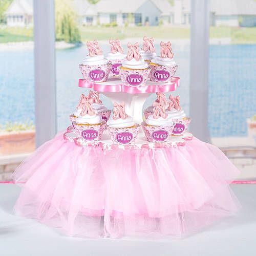 This DIY Ballerina Cupcake Stand is tu tu much fun Create a custom