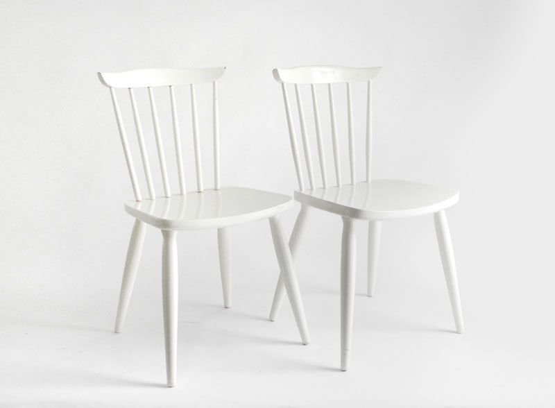 Vintage Swedish Wood Chairs Dengan