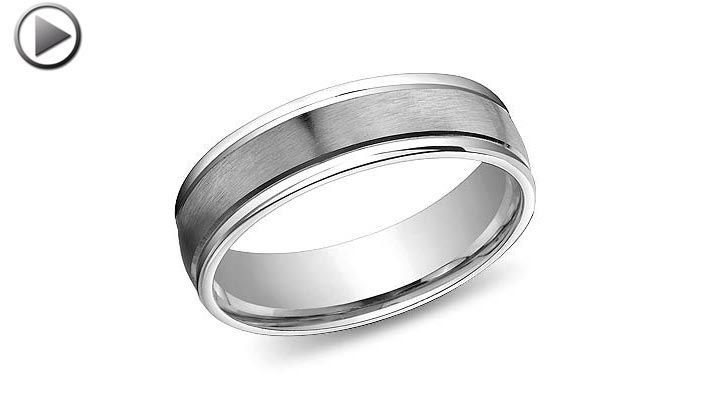 6mm Palladium Sheridan Wedding Band Platinum Wedding Band Wedding Bands Rings For Men