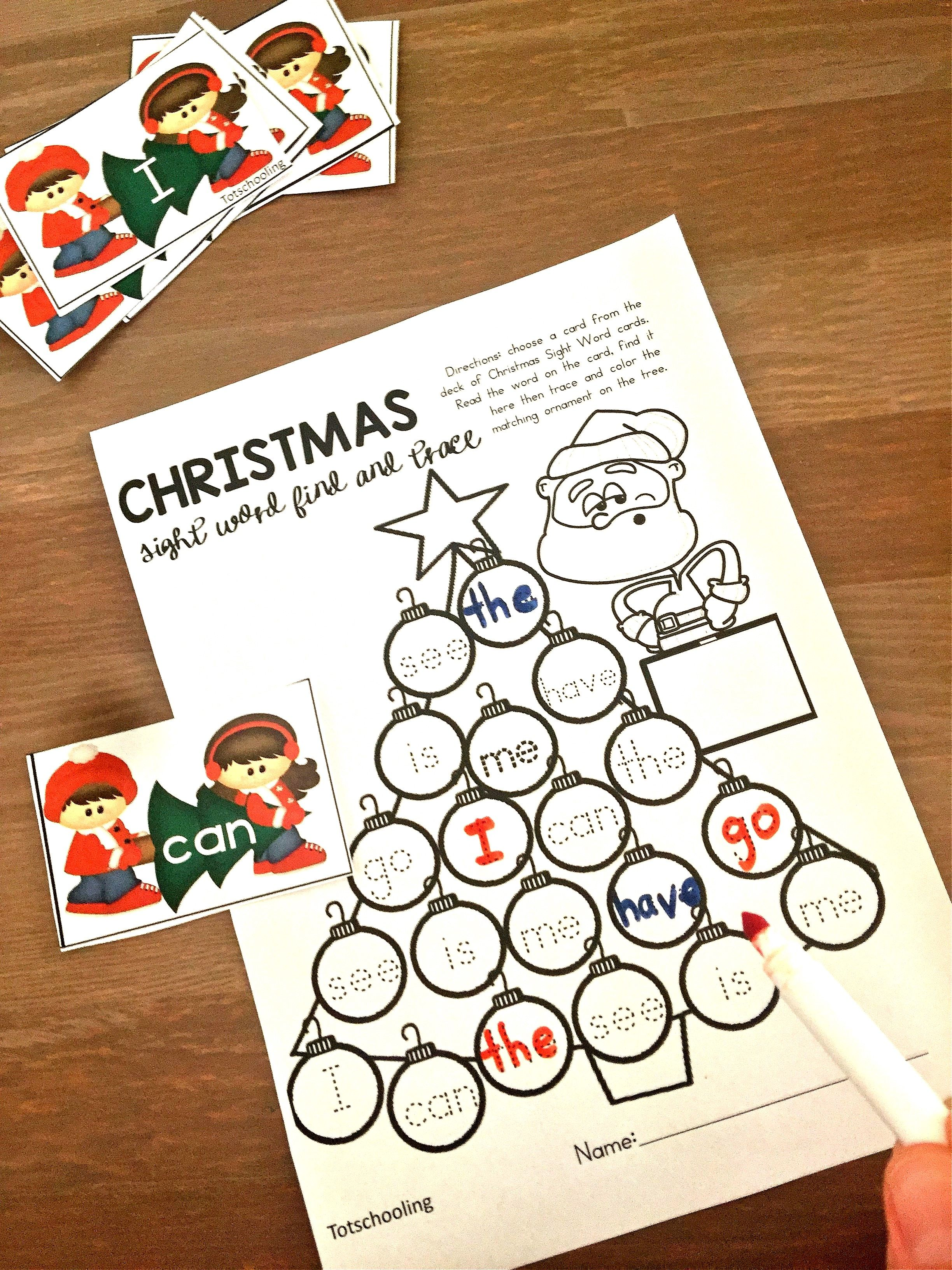 Free Printable Christmas Sight Word Games Your Kids Will