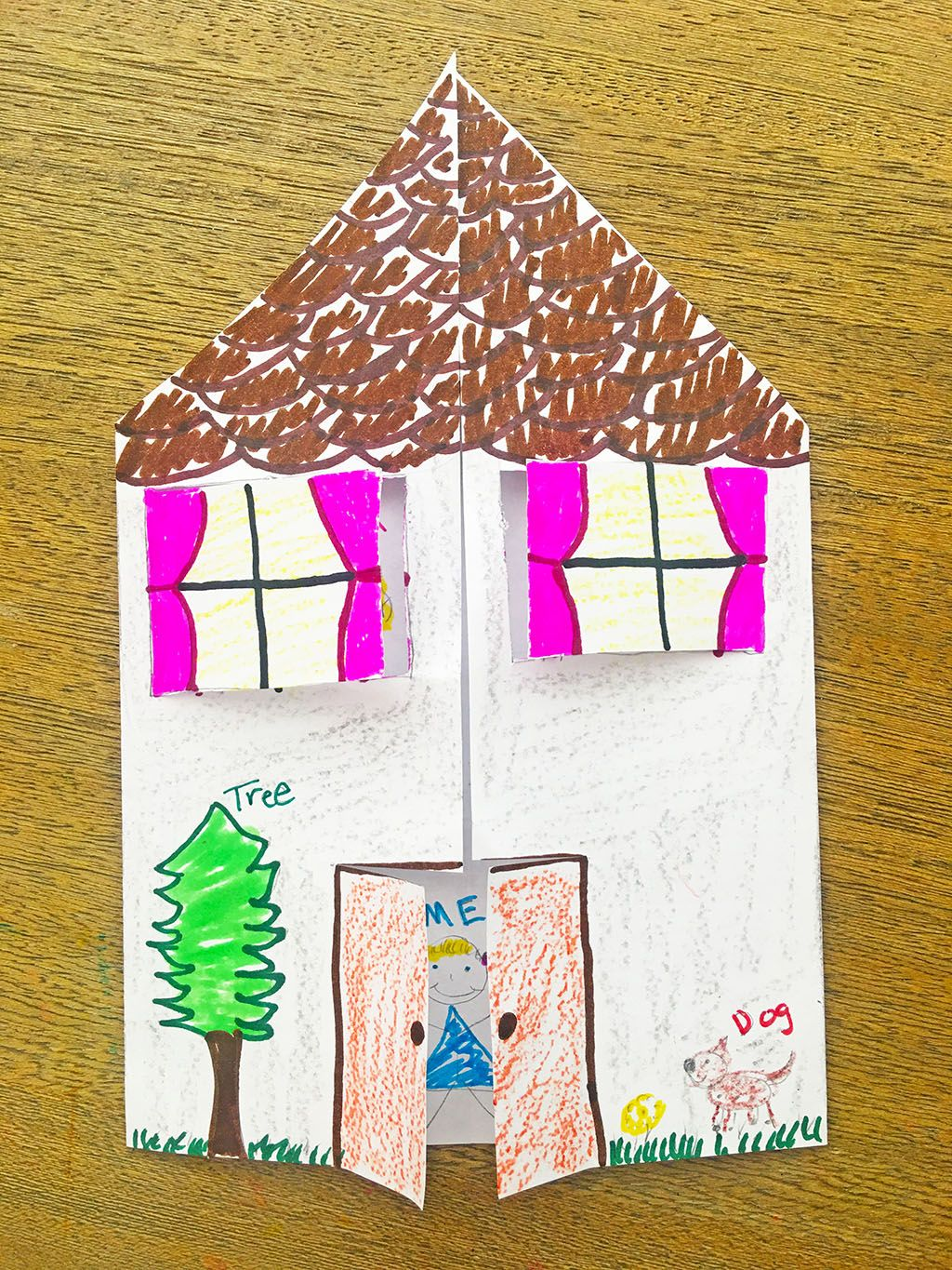 Turkey crafts include making your own turkey costume and a turkey game. Paper House Craft Family Tree Craft Family Tree For Kids Family Tree Art
