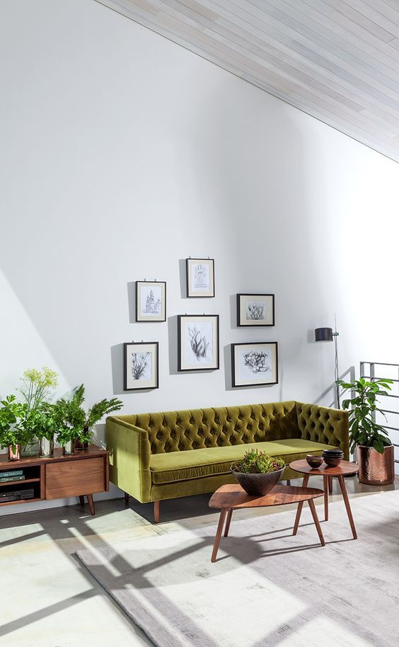 chester field bank in modern interieur | New House - Living Room ...