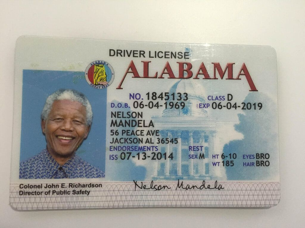 Alabama Id Id Card Experts Alabama Drivers License Photoshop Lessons