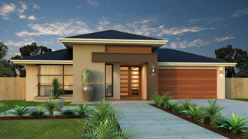 Casa De Un Piso Moderna Dos Fachadas Y Diseno Interior Fachadas - Diseo-de-fachadas-de-casas
