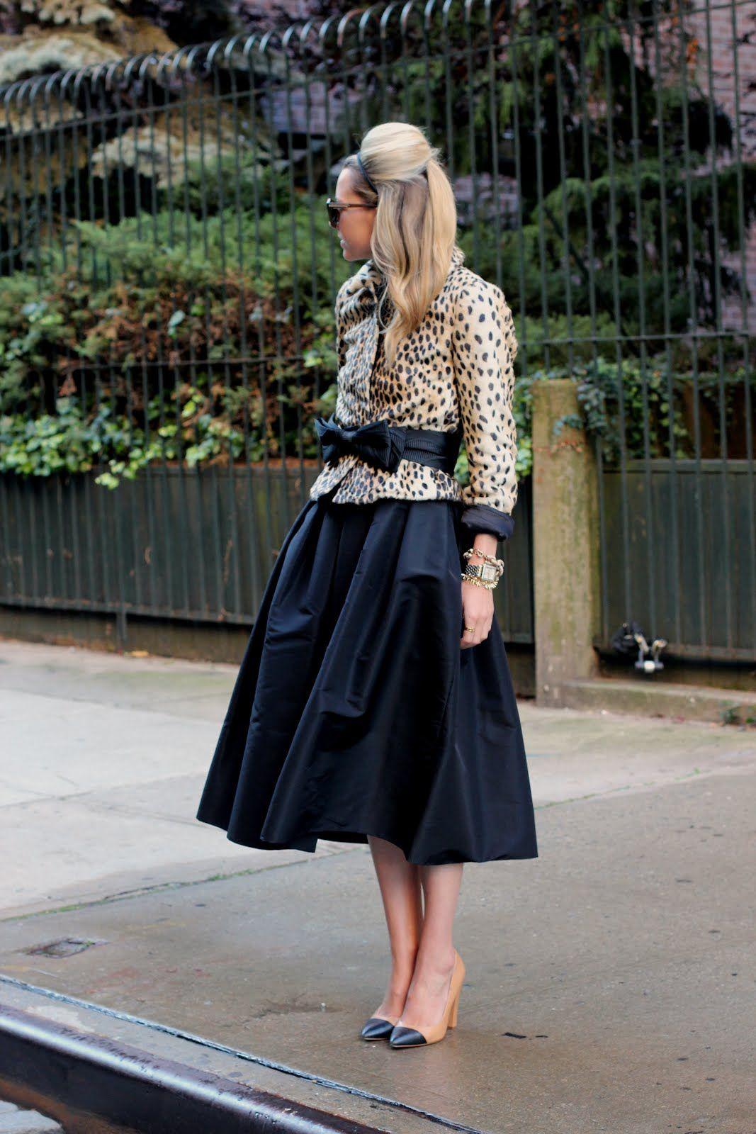 5d33e21c0f Atlantic-Pacific falda negra vuelo chaqueta leopardo