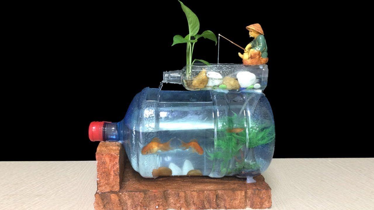 How To Make Fish Tank At Home Ideas Diy Aquarium Of Bottle Art