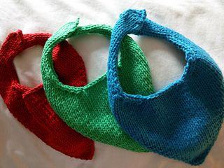 Easy Baby Bandana Bib pattern by Sophie Halford | Crochet ...