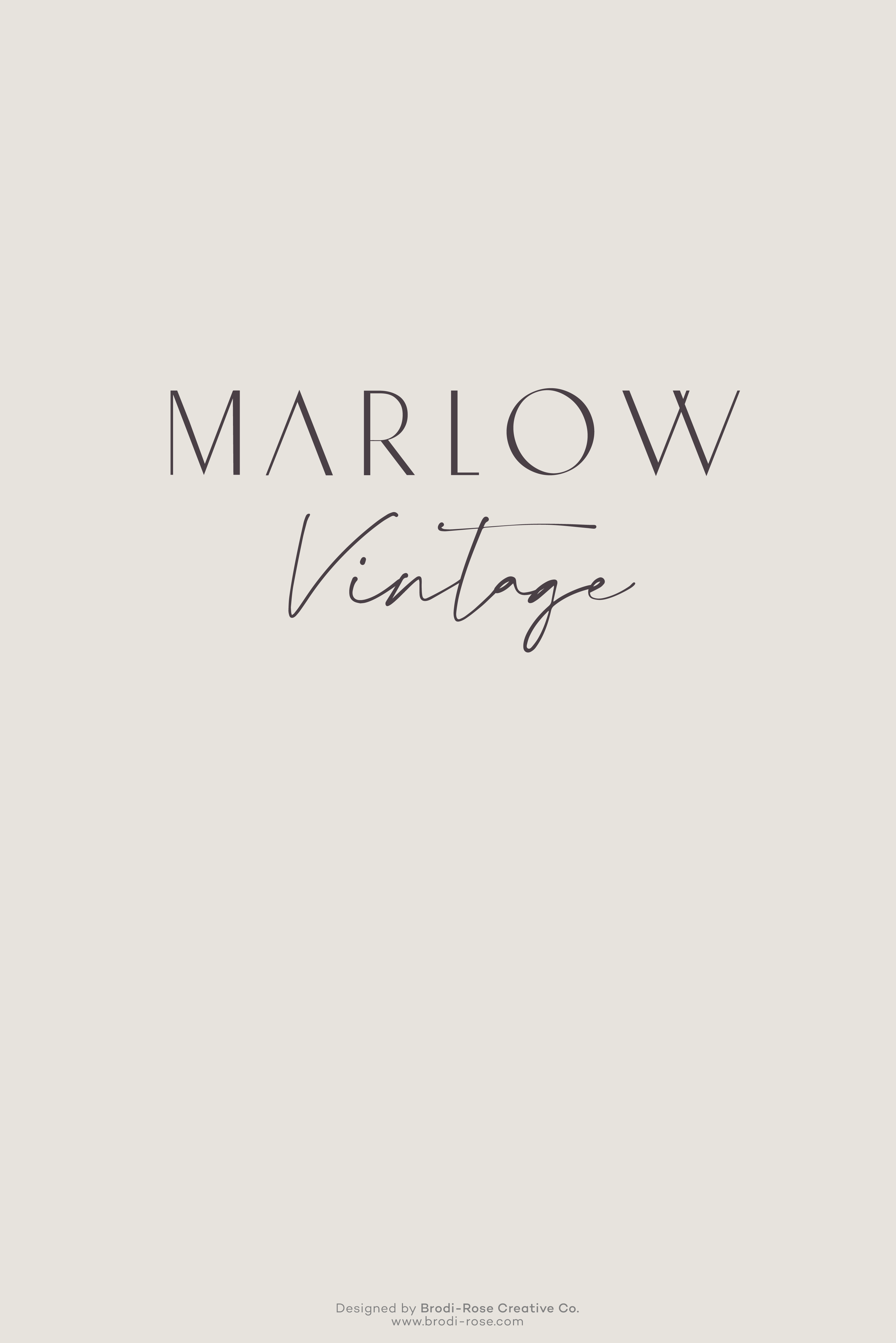 Marlow Vintage Brand Design In 2020 Branding Design Logo Branding Identity Nc Logo