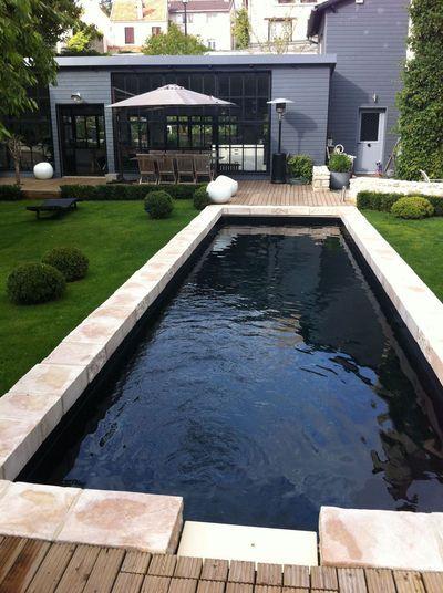 Petite piscine 11 photos de piscines de moins de 30m2 Liner noir pour piscine