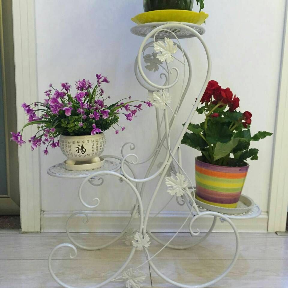 3 Tier S Design Black Floor Standing Pot Plant Stand Contracted Flower Planter Flower Planters Plant Stand Potted Plants