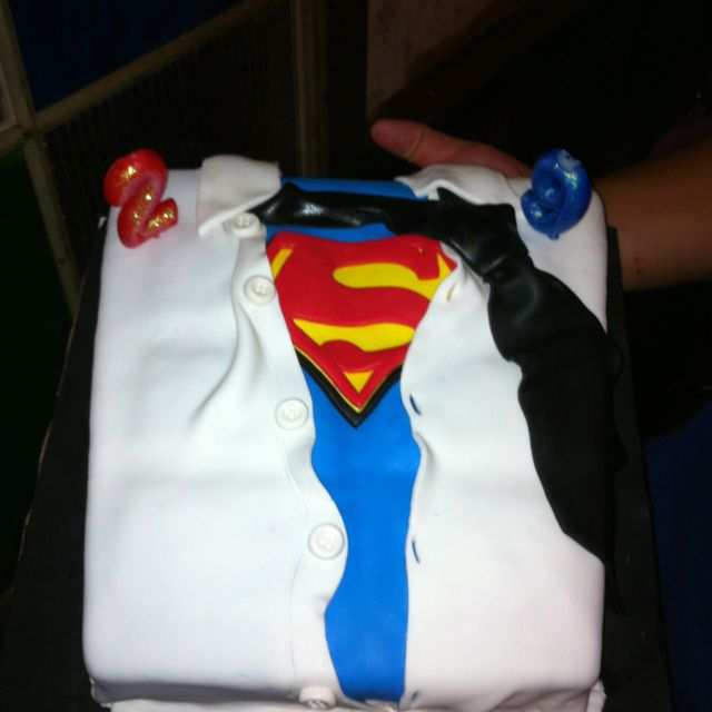 Superman Fan Birthday Cake... Had This Made For My