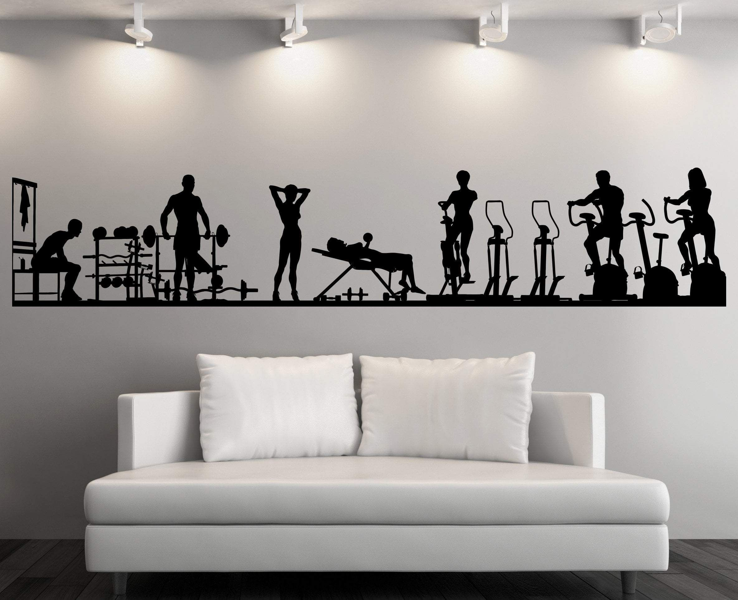 Large Vinyl Decal Wall Sticker Fitness Gym Sport Athletic Interior Decor N839 Gym Wall Decal Vinyl Wall Decals Large Wall Decals [ 1926 x 2369 Pixel ]