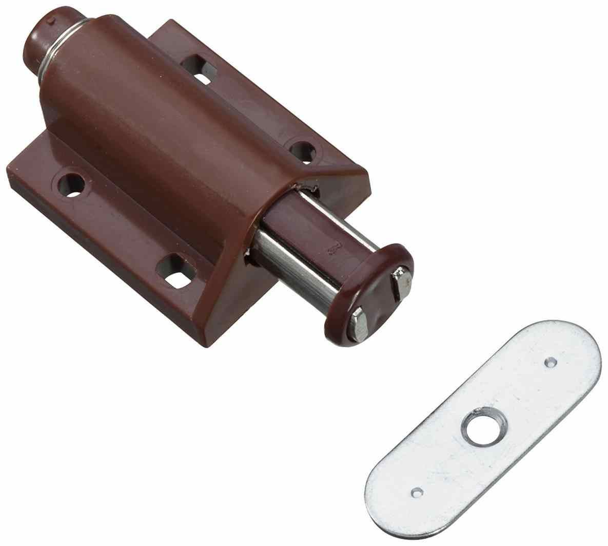 Cabinet Touch Latch In Brown Sugatsune Pushtoopen Catch Push Magnetic Door