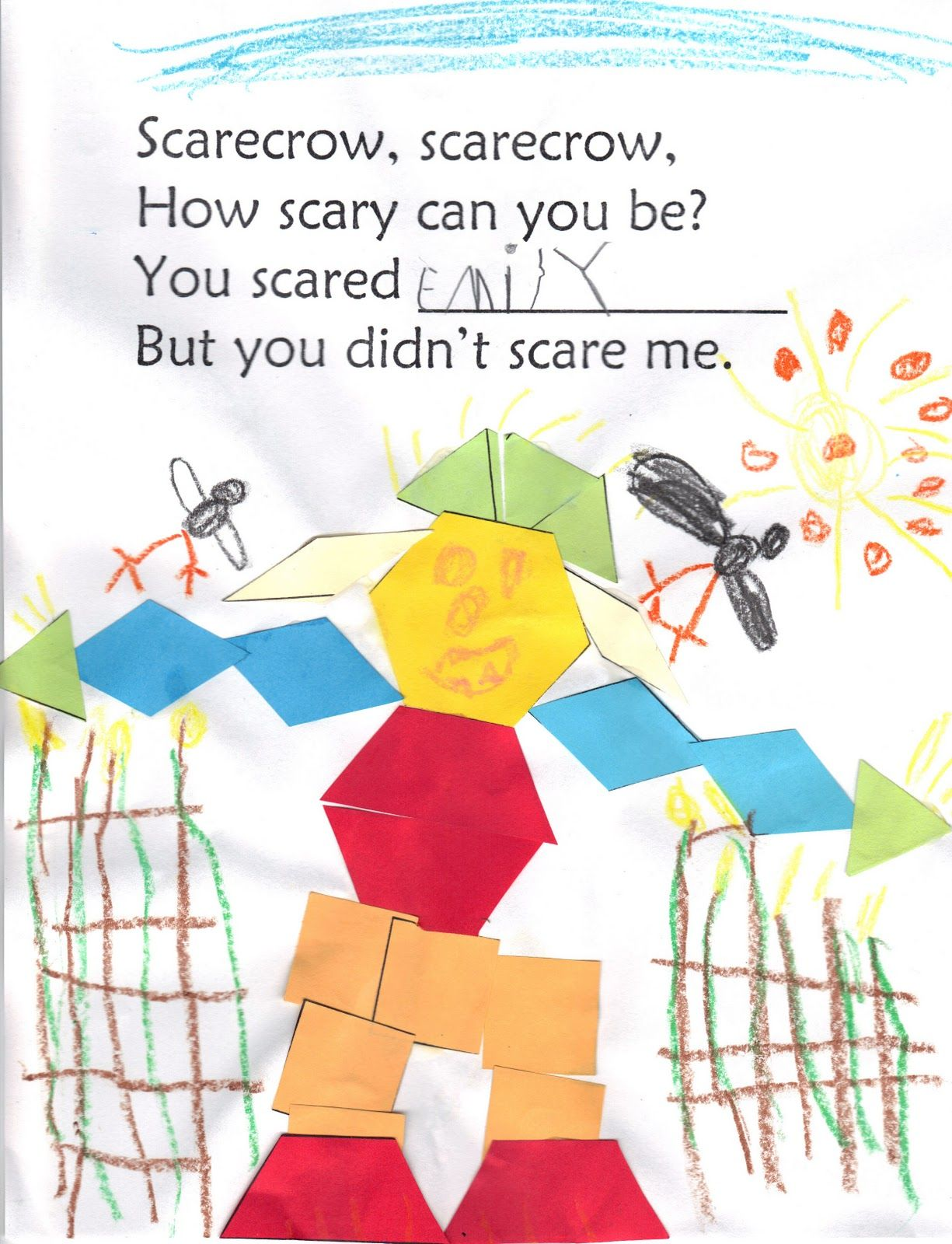 Scarecrow activities: FREE scarecrow printable. Cute poem for ...