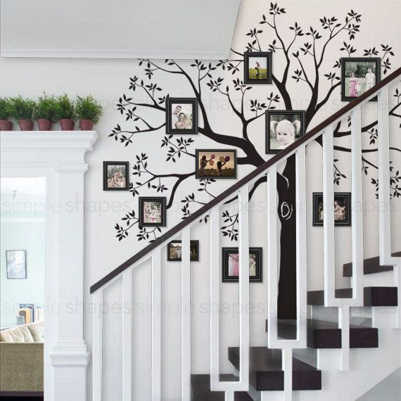 Staircase family Tree Wall Decal Tree Wall Decal Sticker | Baum wand ...