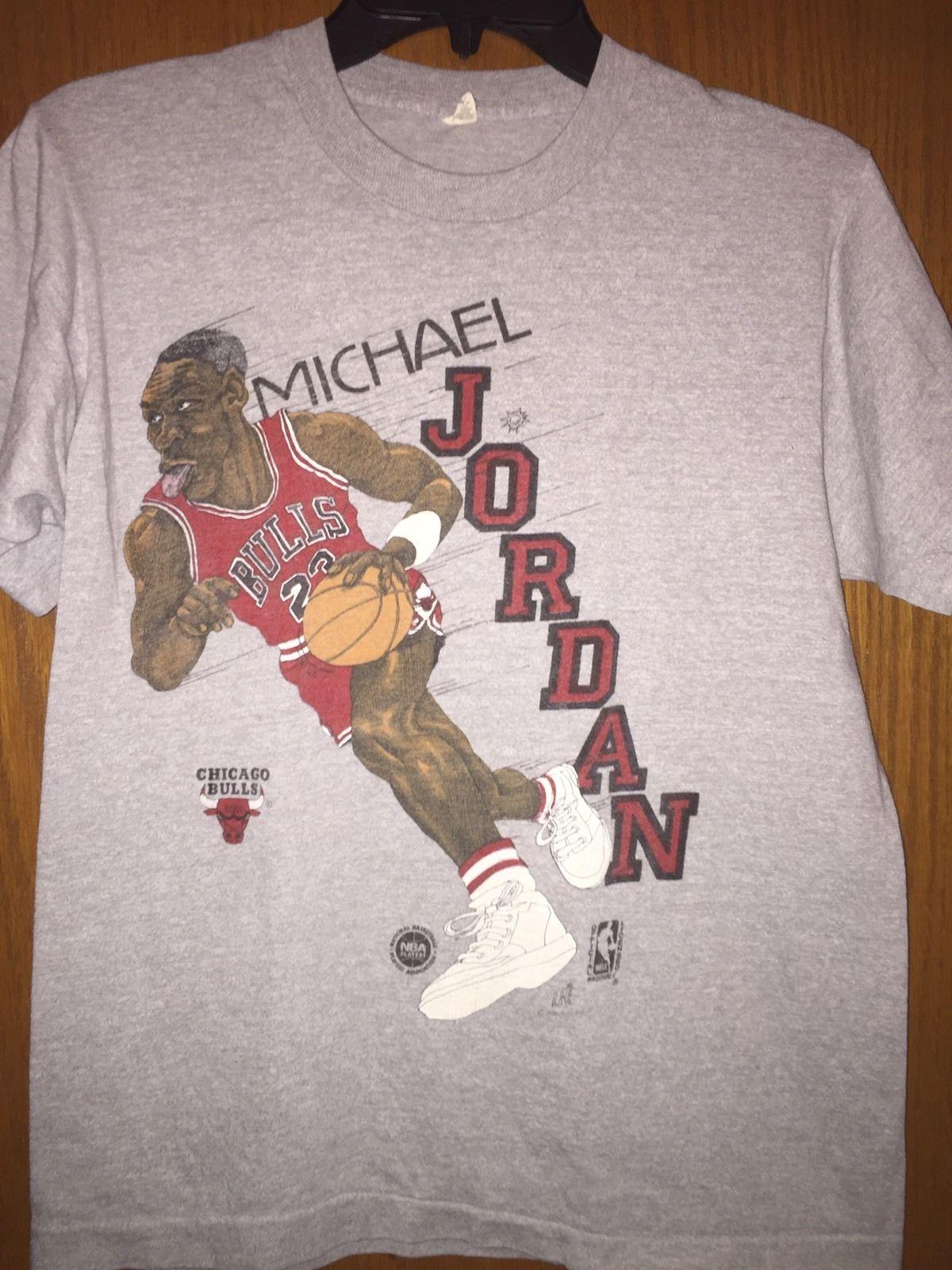 Vtg MICHAEL JORDAN 1980s Screen Stars Shirt Chicago Bulls Basketball